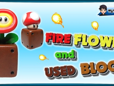 Fire Flower and Used Block (Mario) - Polymer Clay TUTORIAL (Fimo)