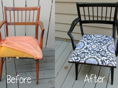Garbage to Gorgeous Episode #9:  Chair Makeover Craft Klatch DIY