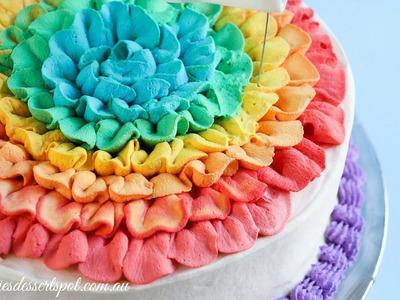 Honeycomb ice cream cake - Rainbow Ruffle tutorial