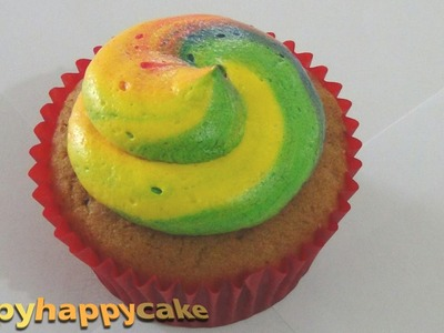 How To: Buttercream Swirl RAINBOW Buttercream