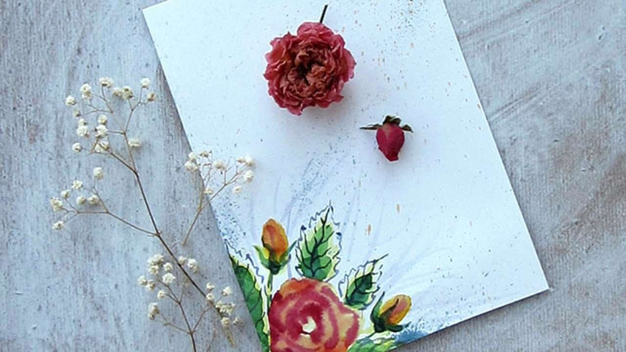 How To Create A Watercolor Invitation Background - DIY Crafts Tutorial - Guidecentral
