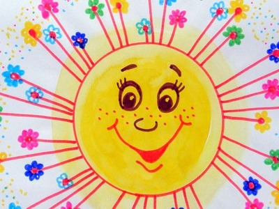 How To Draw A Happy Joyful Sun - DIY Crafts Tutorial - Guidecentral