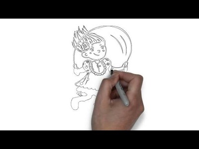 How To Draw Girl Jumping Rope