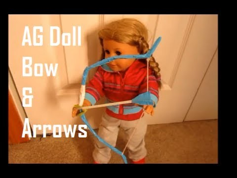 How To Make Bow & Arrows for AG Dolls Tutorial *HD