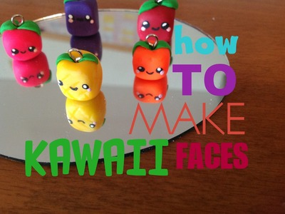 ♡ How To Make Kawaii Faces On Your Clay Charms ♡  | Pasteldaisy