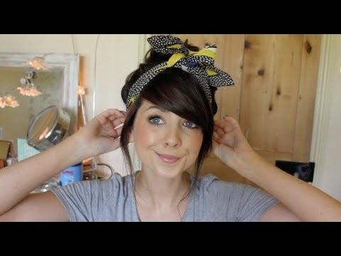 How To : Messy, Voluminous Top Knot Bun | Zoella