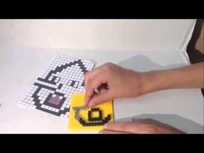 Lemongrab Adventure TIme Perler DIY Bead Tutorial