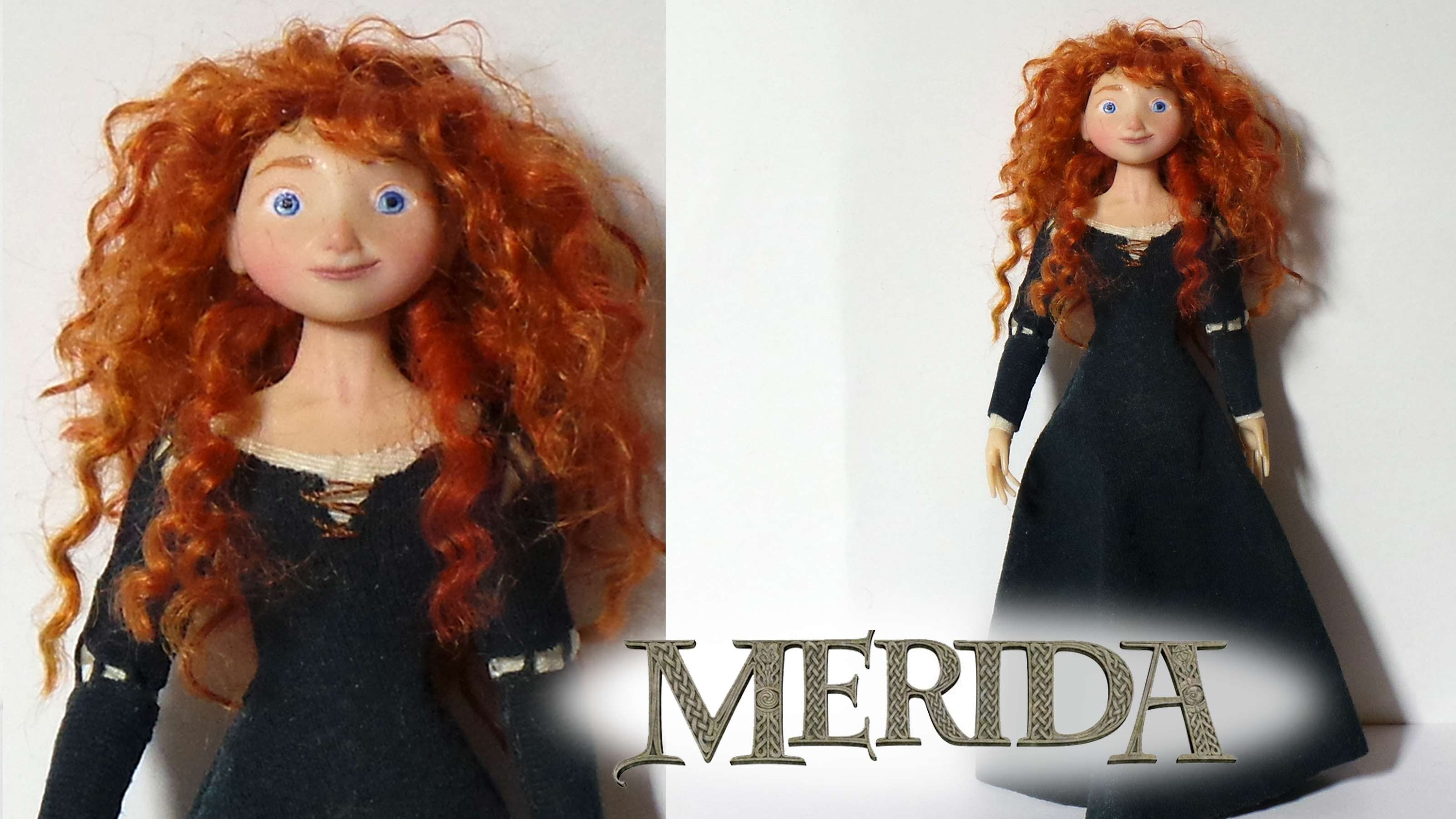 Merida (Brave) Inspired Poseable Doll - Polymer Clay Tutorial