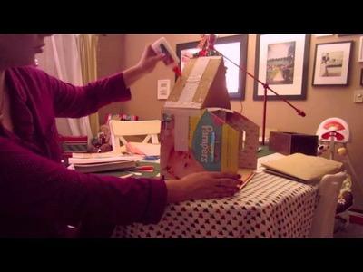 Midnight Elfing - Diaper Box Doll House?