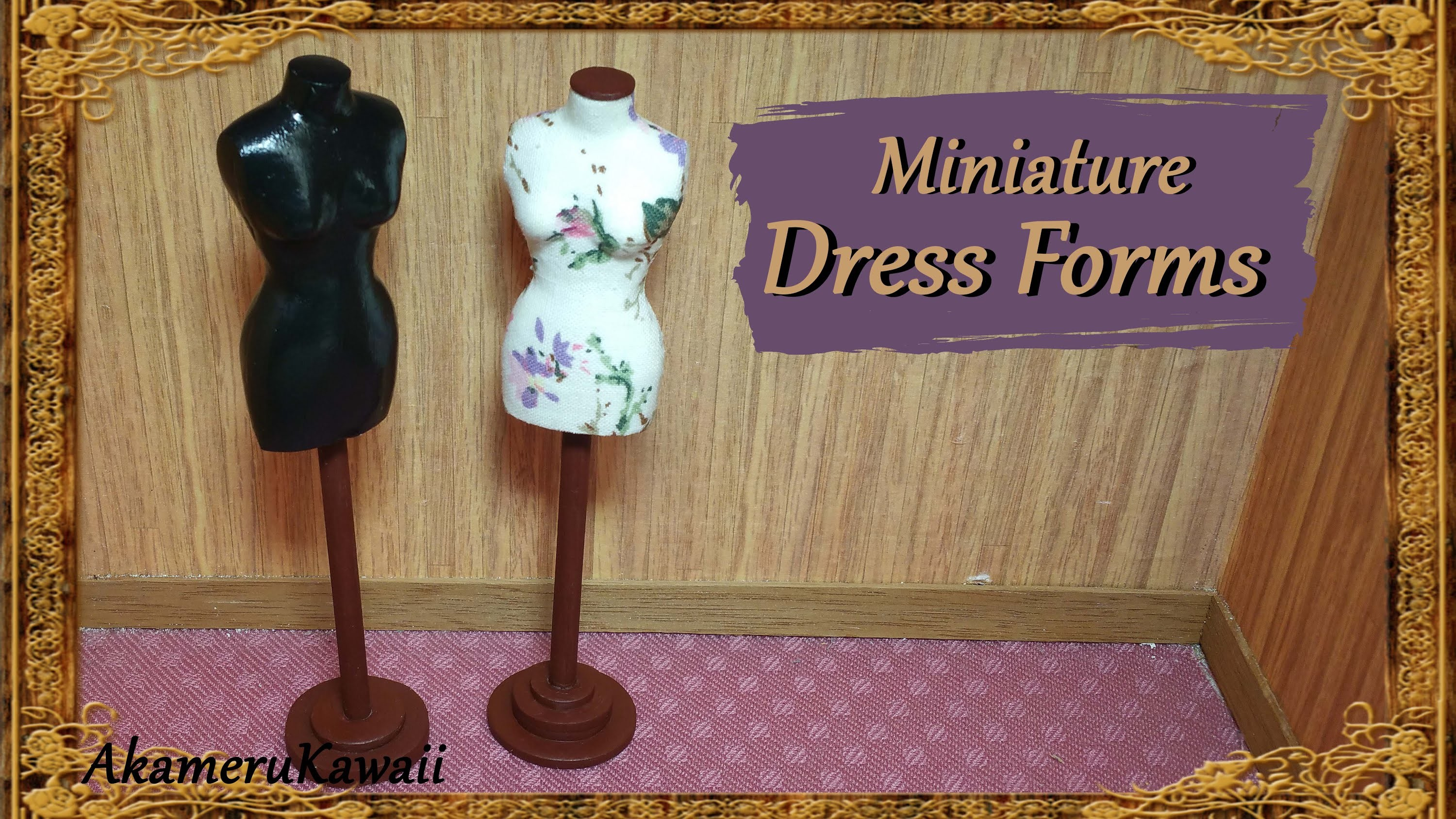 Miniature Doll Dress Forms - Polymer Clay.Fabric Tutorial