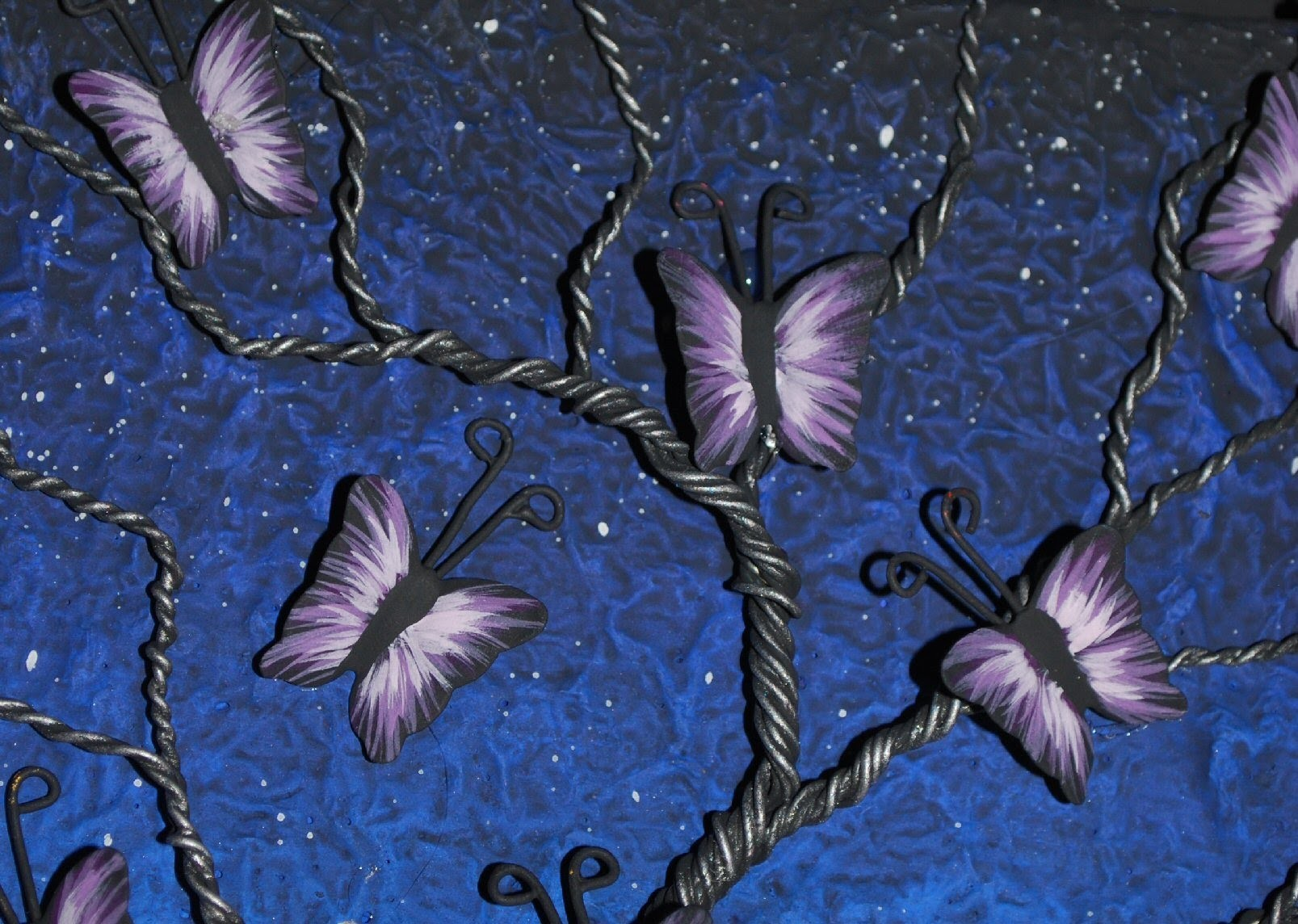 Mixed Media Art - Wire Butterfly Tree