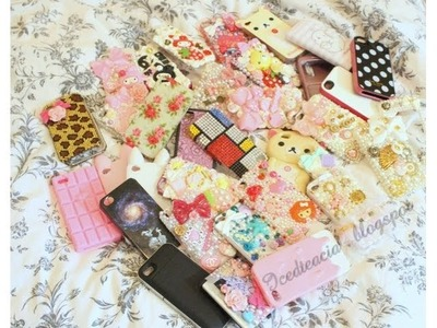 My [Huge] iPhone Case Collection! Feat. Waffle & Boris (Includes Tons Of Decoden)