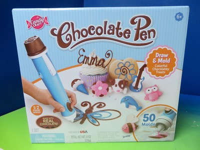 New Chocolate Pen by Candy Craft Skyrocket Toys Unboxing - Drawing Colorful Chocolate Candy