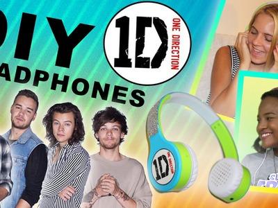 One Direction DIY Headphones - Back to School Craft with jrzgirlz!