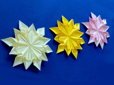 Origami 12 petals flower. Great ideas for notebook decor. Personalized DIY School Supplies