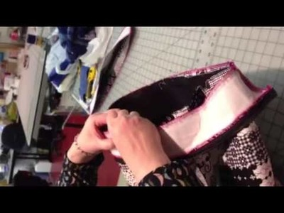 Part 3 Placing the zipper strip around top of tote bag
