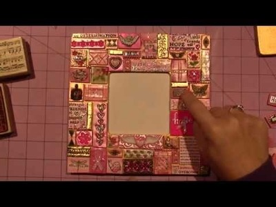 """""""PINK"""" Mosaic Frame with polymer clay"""