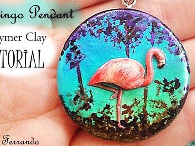 Polymer Clay Flamingo Pendant Tutorial | Maive Ferrando