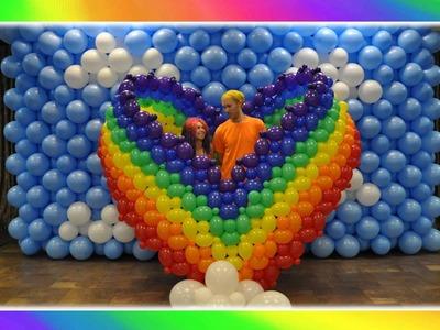Rainbow Heart Balloon Art!