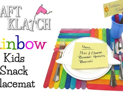 Rainbow Kids Snack Placemat DIY ~ Made by Mommy September Craft Challenge