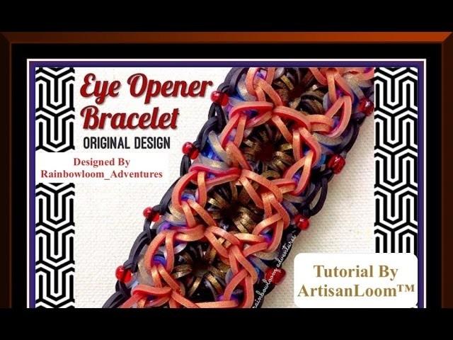Rainbow Loom Band Eye Opener Bracelet Tutorial.How To