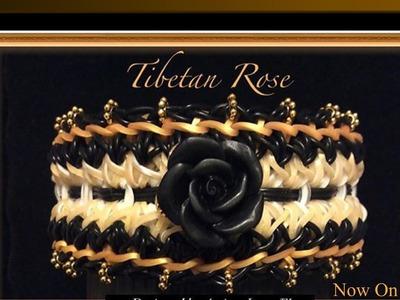 Rainbow Loom Band Tibetan Rose Bracelet Tutorial.How To