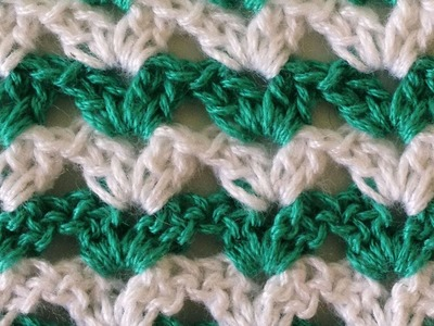 Stitch Repeat Shell #1 Free Crochet Pattern - Left Handed