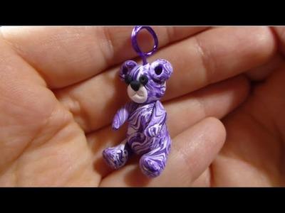 Teddy Bear Charm Pendant Beginner Polymer Clay Tutorial by MagicByLeah