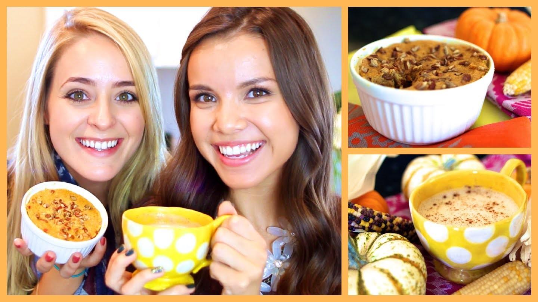 Yummy Pumpkin Spice Mini Cake + Chai Latte!