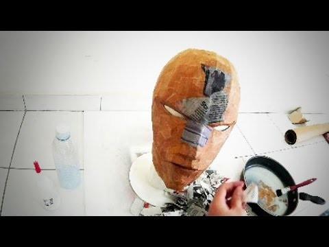 #106: Red Hood DIY Costume Helmet Part 2 - Papermache