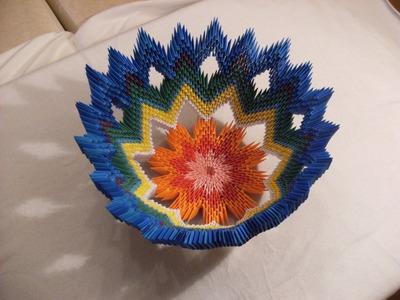 3D origami - VASE FOR FRUITS - misa na owoce - how to make instruction