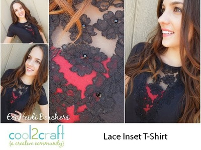 Aleene's Vintage Inspired Lace Inset T-Shirt by EcoHeidi Borchers