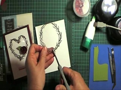 Altering a round wreath die into a heart for valentines day