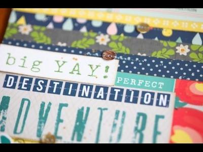 As it Happens :: Destination Adventure travel scrapbook page