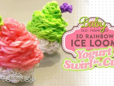 Baby Yogurt Swirl in a Cup: 3D Rainbow Ice Loom Series