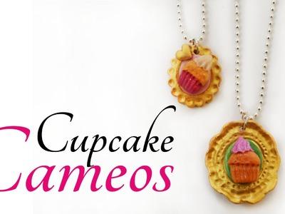 Camafeos Cupcake-Porcelana fria- Sin molde.Cupcake Cameos- Polymer Clay-Cold porcelain-No Mold