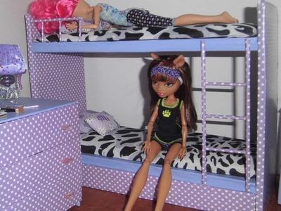 Como fazer beliche treliche para boneca Monster High, Barbie e etc