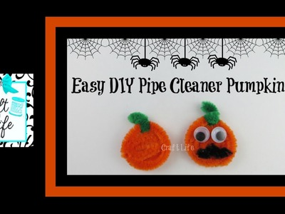 Craft Life ~ Easy DIY Pipe Cleaner Pumpkin ~ Earrings & Pencil Topper Halloween Tutorial