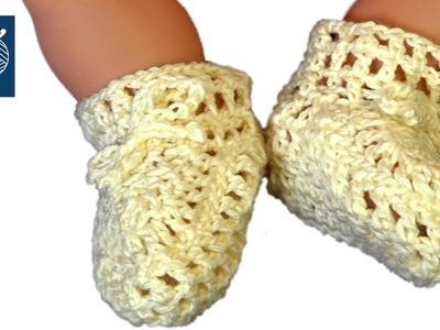 Crochet Baby Bootie Part 1 Left Hand Tutorial