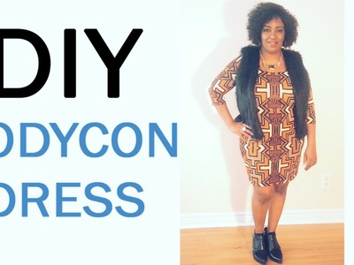 DIY Bodycon Dress: How to make an easy bodycon dre