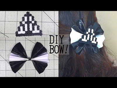 DIY Deathly Hallows bow! Duck tape and perler beads!