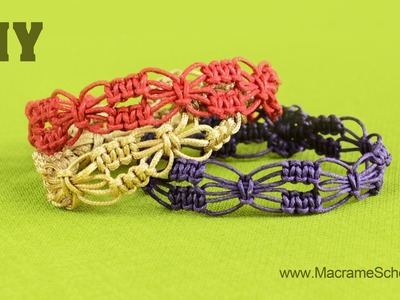 DIY Easy Square Knot Flower Bracelets