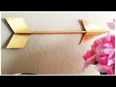 {DIY} Gilded Arrow (Straw and Paper)
