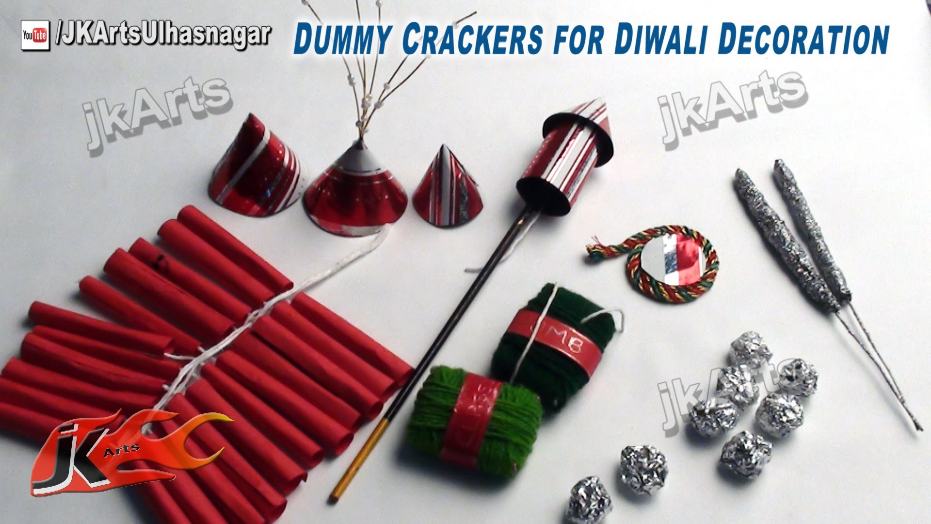 Diy how to make dummy crackers for diwali decoration for Art and craft for diwali decoration