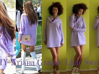 DIY Lilac Sweater Inspired by Ariana Grande | DIY Fall Clothes