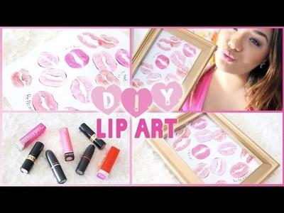 ♡ DIY Lip Art ♡ Valentine's Day Room Decor