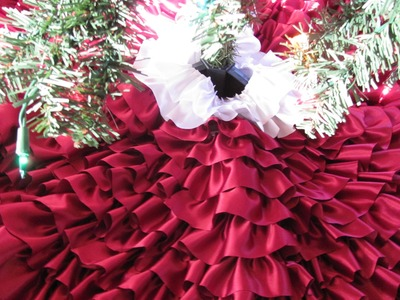 DIY Ruffle Christmas Tree Skirt