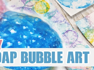 DIY: Soap Bubble Art | Personalize your Notebooks!