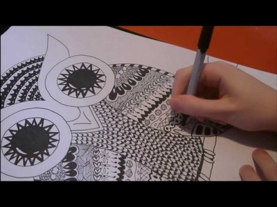 Doodle Art: How to doodle an owl