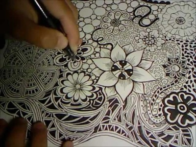 Doodle Flowers Explosion (Doodle Drawing 3)